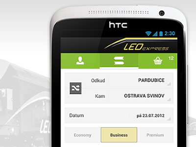 LEO express - android android smartphone train application