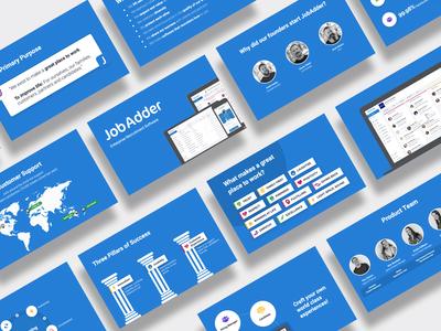 Slide deck design for JobAdder