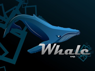Whale corp ai logo animals
