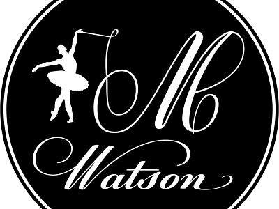 Baller branding icon vector typography caligrafia magic ballet ballerina dancer dance design illustration logo ai