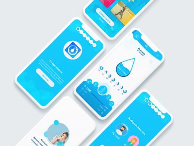 UX\UI App design drop blue color lifestyle sport health water healthylife iphonex apple appdesign uiux ux ui ui design