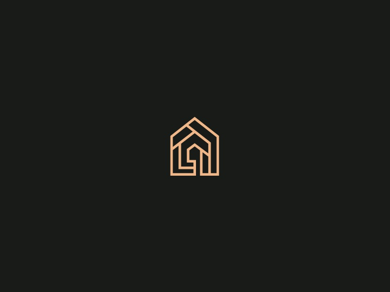 GuestHouse mark logo mark black gold guesthouse brand identity