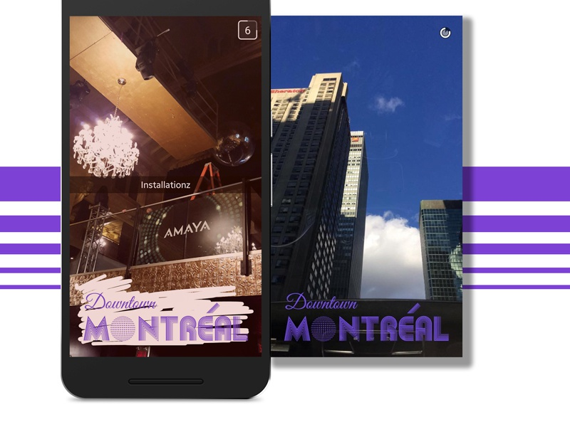 Snapchat Geofilter montreal geofilter snapchat