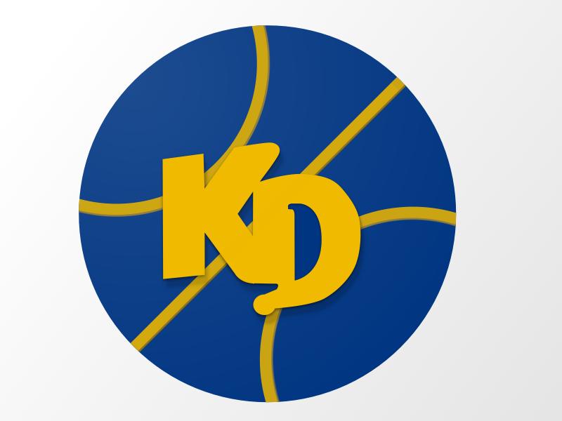 In honour of the new season :) blue orange ball kraft dinner kd kevin durant basketball