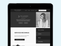 Landing page for cosmetics brand