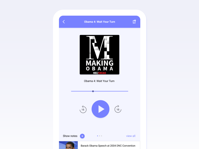 Show Notes App Player dailyui player mobile podcast app