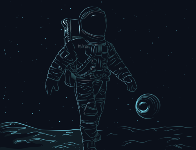 Astro moon astronaut adobe illustrator illustrator graphic illustration graphite design vector ai