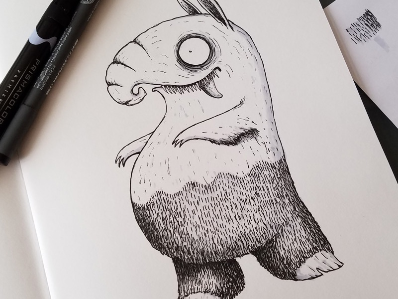 Drowzee of Darkness drawing pokemon drowzee