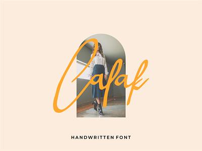 Calak Handwritten Font illustration
