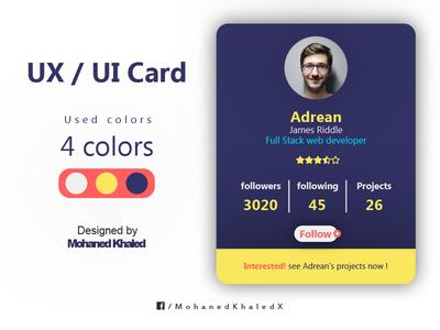 UX / UI Card