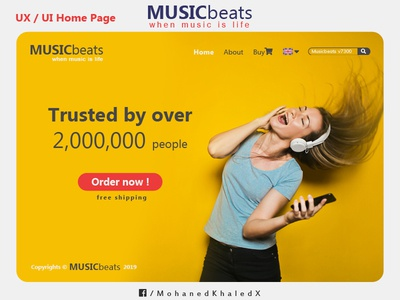 MUSICbeats - UX / UI Home Page