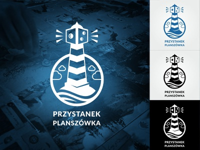 Board Game Place - Logo sea lighthouse game dice tabletop games board logo