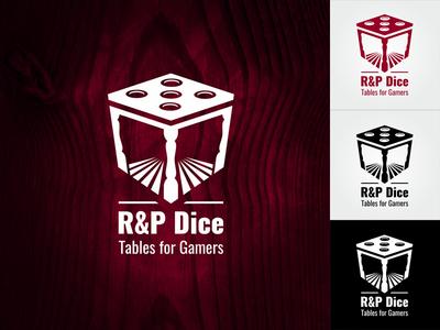 Logo R&P Dice furniture game dice table logo