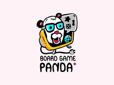 Board Game Panda Logo comic design tv logo game board panda