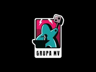 Mv Logo game board game cartoon design board art logo illustration