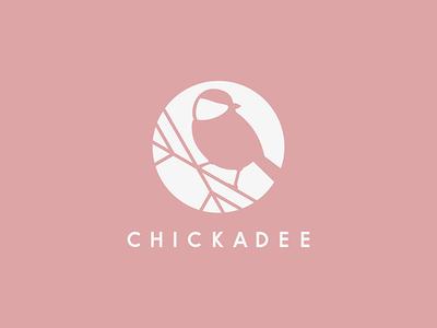 Chickadee - Events design clothes jewelry pink branding logo woman girl bird event