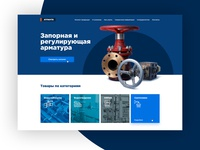 Landing page design for manufacture and shop