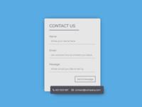 #DailyUI028 Contact Form
