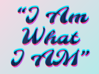 I Am What I AM - SVG Filtered Text