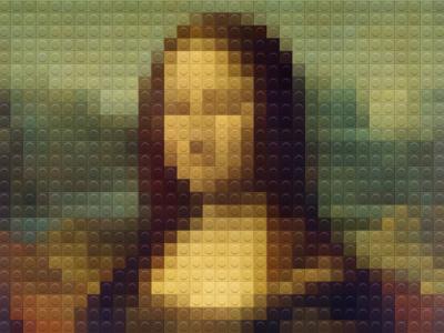 Mona Lisa Lego using dotted app