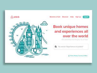 Airbnb Landing Page UI website airbnb minimilist ux web dev web design ui