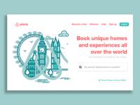 Airbnb Landing Page UI