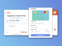 Zapier Upgrade/Payment UI Concept