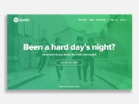 Spotify Landing Page UI