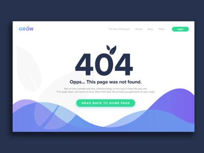404 Error UI Concept ux web concept startup web dev error 404 error 404 ui growsuper grow 008 dailyui