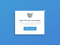 Cookie Pop-up/Overlay UI