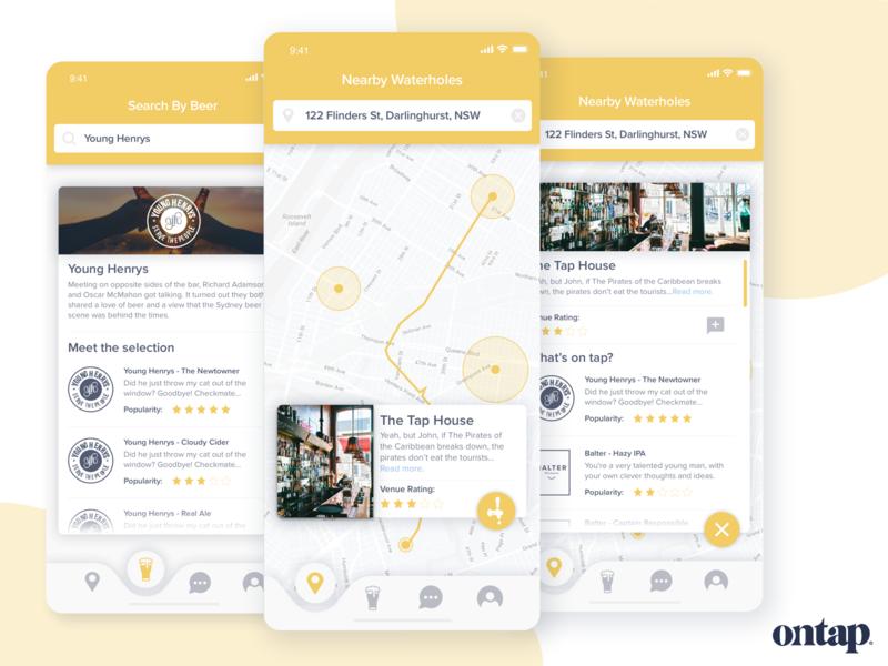 Ontap Mobile App Search Screens search location map ontap beer mobile app mobile searc design ios minimalist app design startup ux ui
