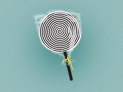 HypnoPop lollipop hypno hypnotic illustrator lollypop mint candy cellophane