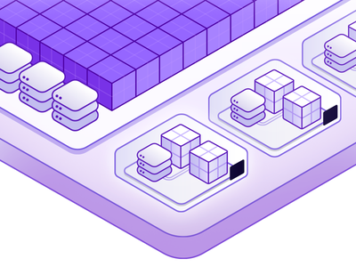 Private Spaces runtime dynos database purple illustration isometric spaces heroku