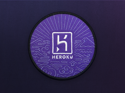 Badge irl heroku purple embroidery