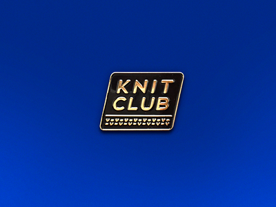 Knit Club 3d black gold pin enamel club knit v-v-v-v