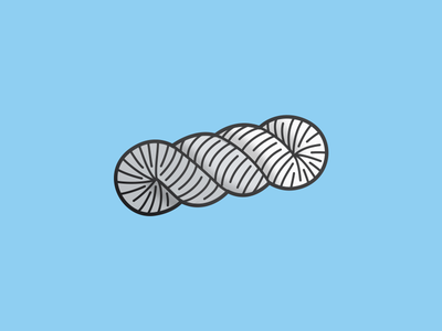 Skein tight curls illustration enamel pin yarn skein
