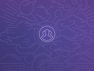 Heroku Teams tree stroke line art bonsai illustration logo purple heroku teams