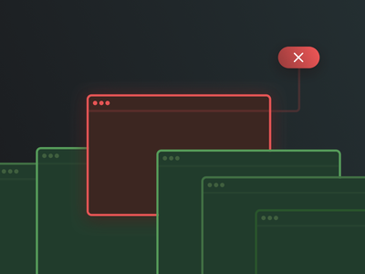 Tests blog js terminal error green red spot illustration testing