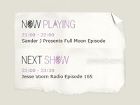 Now Playing/ Next Show
