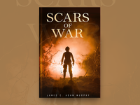 Scars Of War Book Cover Design