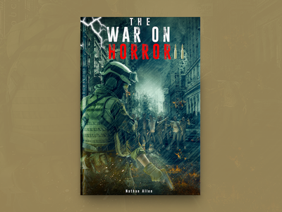 The War On Horror Book Cover Design