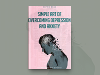 Simple Art Of Overcoming Depression  Book Cover Design