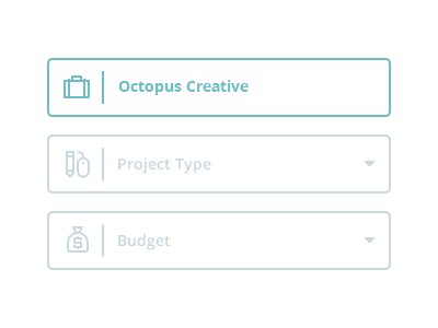 Simple Contact Form  contact form icons iconography octopus creative