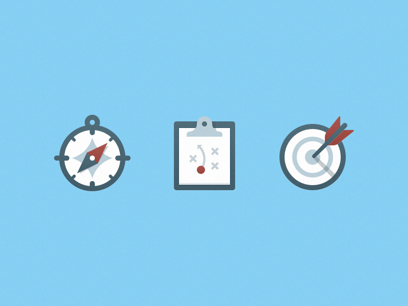 Strategic Planning Illustrations compass clipboard illustration icon target