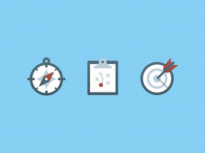 Strategic Planning Illustrations compass clipboard illustration icon target