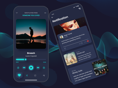 Music player concept music mobile app design mobile ui iconography typogaphy design ux ui music player