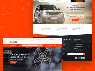 Car Parts ecommerce website