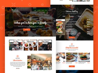 Restora - Restaurants Website design