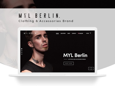 Myl Berlin - Ecommerce Website fashion men fashion accessories clothes online shop design homepage website shopping web design ux ui shop store ecommerce