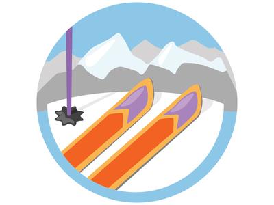 Skiing Badge